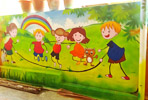 cartoon wall painting imges for school in vashi
