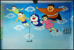 play school wall painitng design