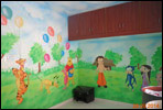 cartoon wall painting for school